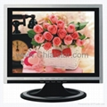 15 inch (4:3)TFT lcd display monitor,silver+black(mirror-glass&TV optional)