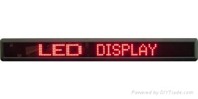 single line Indoor LED moving message sign 2
