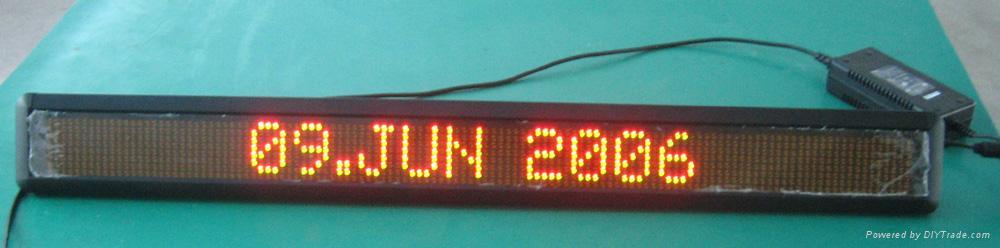 single line Indoor LED moving message sign 3