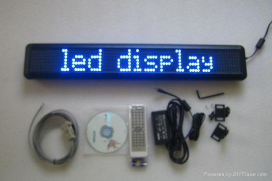 single line Indoor LED moving message sign 4