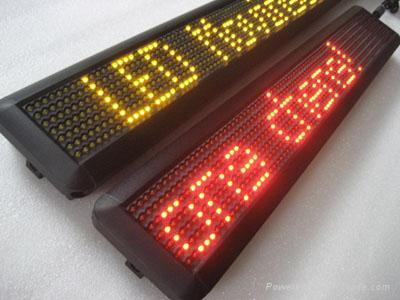 single line Indoor LED moving message sign 5