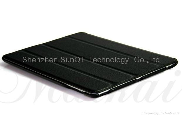 iPad3智能皮套 PU 休眠皮套 1
