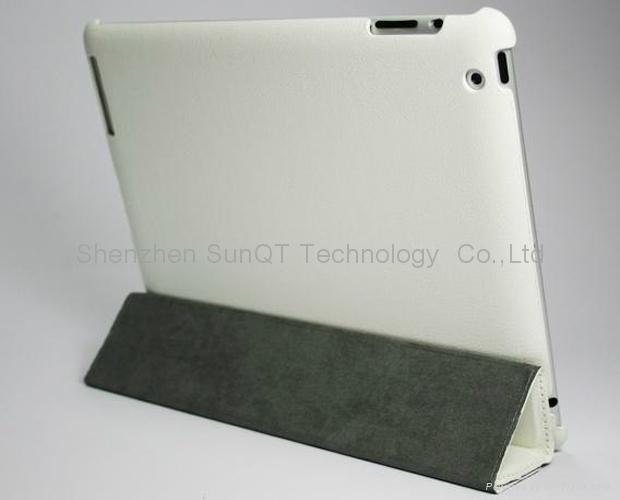 iPad3智能皮套 PU 休眠皮套 3