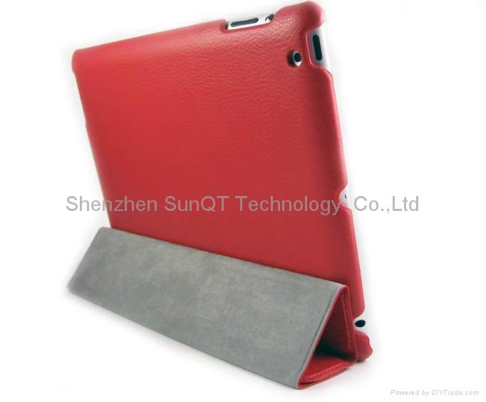 iPad3智能皮套 PU 休眠皮套 5