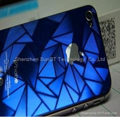 苹果4代3D贴膜