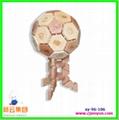 木制玩具,木制工艺品,木制足球 1