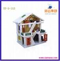 木制玩具,本色木屋