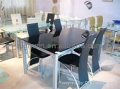 DINING CHAIR(4pcs)&DINING TABLE(1 pc)