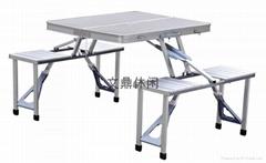 廠家直銷鋁合金折疊桌椅
