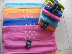 长毛绣花浴巾(大、小浴巾)--出口产品