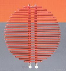 Red sun radiator
