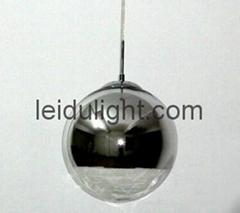 mirror ball suspension lamp