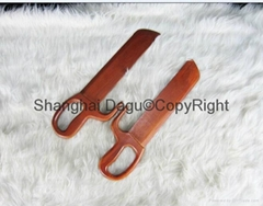 Wooden bart cham dao also called wing chun butterfly knives