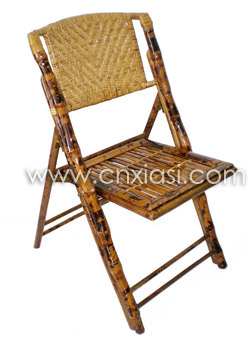bamboo folding chair woven rattan back 85911 xiasi china