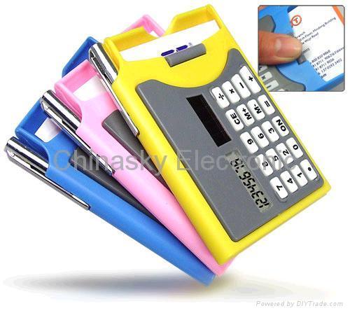 Calculator with Card Box 1