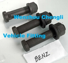 Auto wheel  bolt and nut assembly