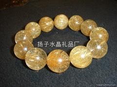 天然发晶手链--发晶
