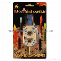 Color Flame Number Candle