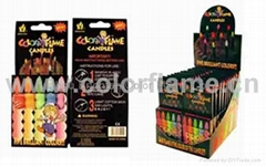 Item No:1105 Color Flame Birthday Candles-display box