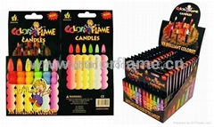 Item No:1106 Color Flame Birthday Candles-display board