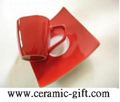 ceramic coffee cup & saucer