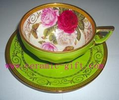good quality bone china ceramic mug & saucer