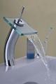 Glass waterfall faucet