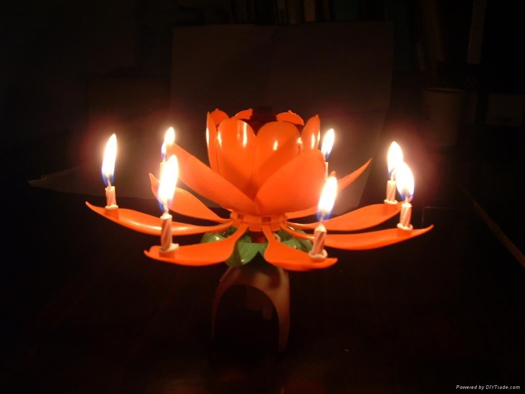 Music Flower Birthday Candle 1