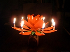 Music flower birthday candle