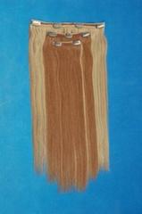 clip-on-piece hair