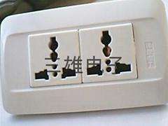 工業流水線插座-118兩位寬板萬用插座