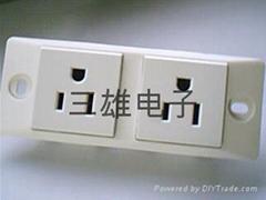工業流水線插座-兩位窄板美式插座