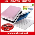 10 inch 16:9 VIA 8650 800 MHz Android V2.2 mini cheap laptops with wifi 4GB HDD