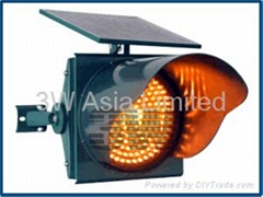 Solar Traffic Flashing Warning Light