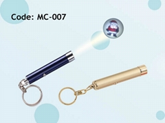 廣告投影手電筒