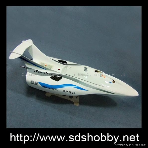 Sea Predator RC Toy Gasolone boat with 26cc Zenoah engine made in
