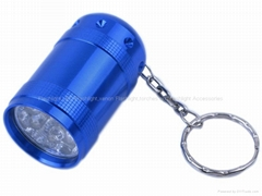 Portable 6 LED Aluminium Flashlight with Keychain