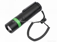 Smiling Shark SS-F001 CREE Q5 LED 3-Mode Dynamo Focusing Flashlight