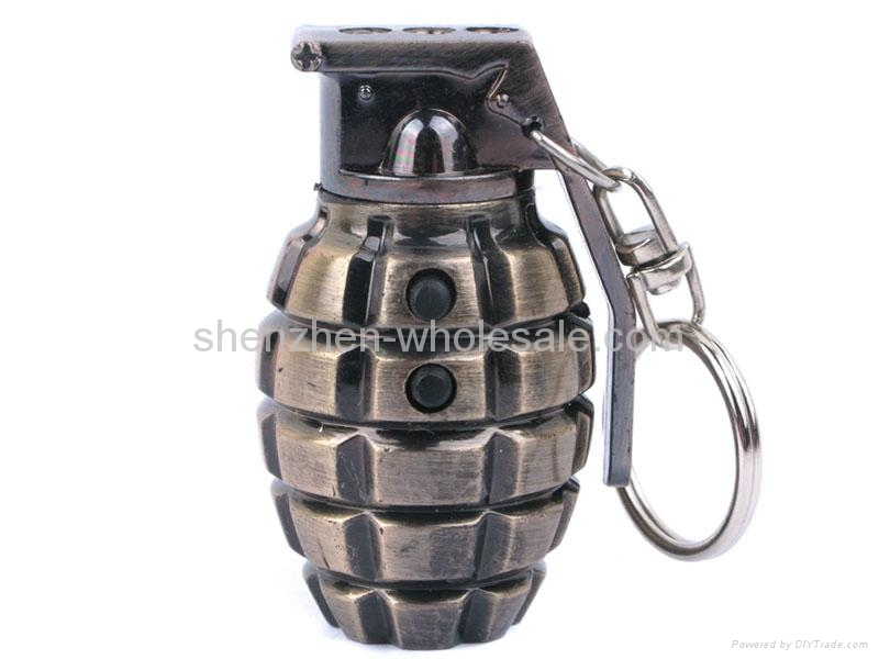 3 in1 Laser And LED Hand Grenade Shaped Keychain 1