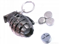 3 in1 Laser And LED Hand Grenade Shaped Keychain 3