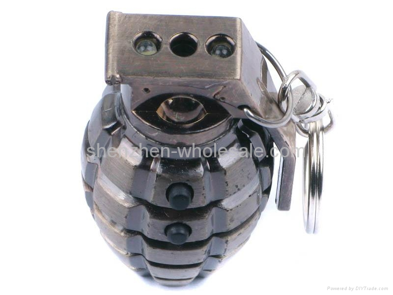 3 in1 Laser And LED Hand Grenade Shaped Keychain 4