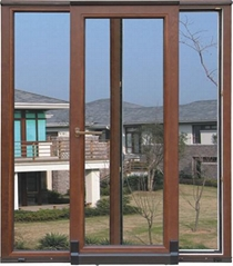 wood with aluminum cladding tilt slid door