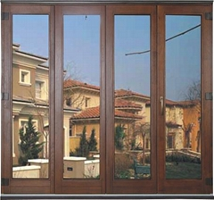 wood with aluminum cladding folding door