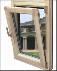 wood with aluminum cladding tilt turn window