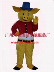 卡通服装猪