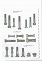 bolt and nut for bulldozer and motorgrader blades 1