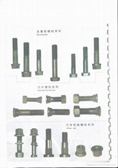 bolt and nut for bulldozer and motorgrader blades