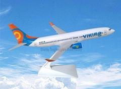 仿真塑料模型飛機B737-800