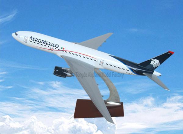 仿真树脂飞机模型b777-200(墨西哥航空) 1