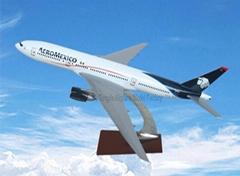 仿真樹脂飛機模型B777-200(墨西哥航空)